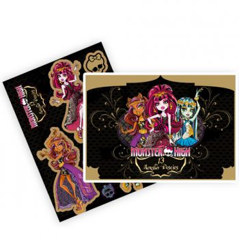 Kit Decorativo Cartonado Monster High 13 Desejos