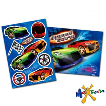 Kit Decorativo Cartonado Speed Cars
