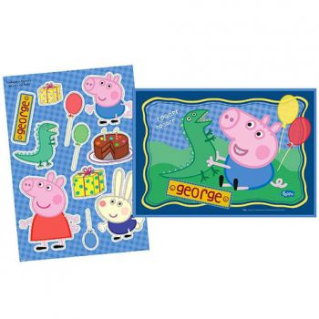 Kit Decorativo Cartonado George Pig