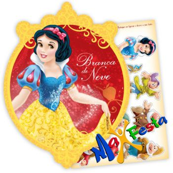 Kit Decorativo Cartonado Branca de Neve New