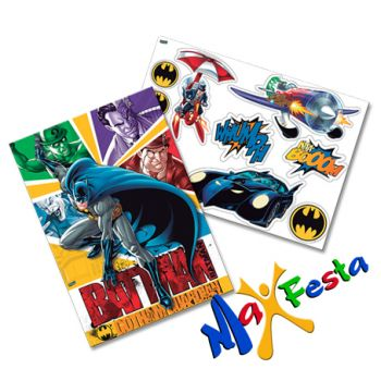 Kit Decorativo Cartonado Batman 2016