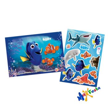 Kit Decorativo Cartonada Procurando Dory