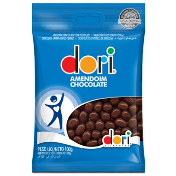 Amendoim Chocolate Pct 100 gramas - Dori