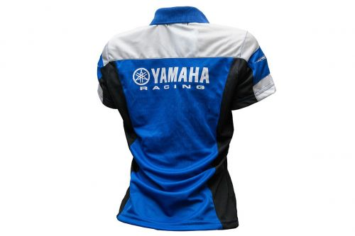 Polo Feminina Yamaha Racing Blue