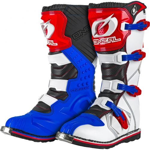 Bota ONeal Rider Blue / Red / White