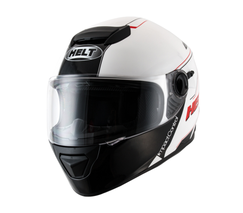 Capacete Helt New Race Glass Blanc