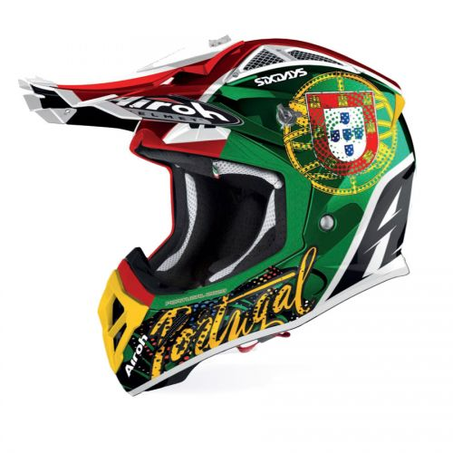 Capacete Airoh Aviator 2.3 AMS² Six Days Portugal 2020