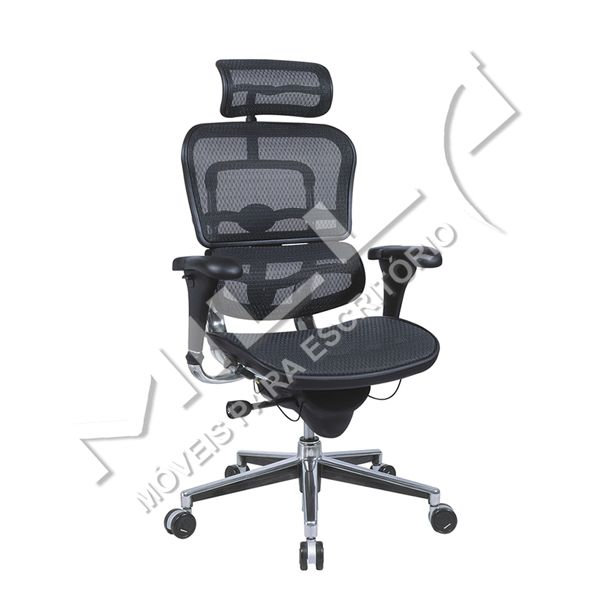 CADEIRA ERGOHUMAN MESH CHAIR BLACK
