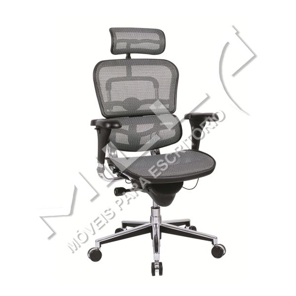 CADEIRA ERGOHUMAN MESH CHAIR GREY