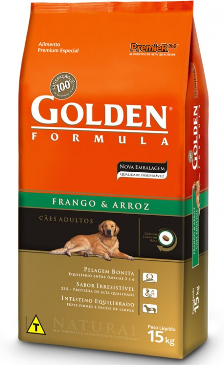 GOLDEN FÓRMULA FRANGO E ARROZ ADULTO 15KG