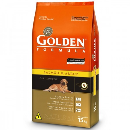 GOLDEN FÓRMULA SALMÃO E ARROZ ADULTO 15KG