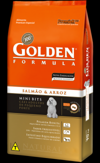 GOLDEN FÓRMULA SALMÃO E ARROZ MINI BITS ADULTO 3KG