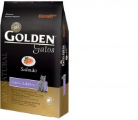 GOLDEN GATOS ADULTO SALMÃO 3KG - PREMIER