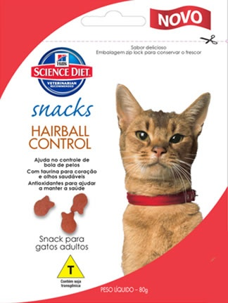 HILL´S SNACK HAIRBALL CONTROL PARA GATOS ADULTOS 80G UN