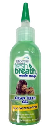 TROPICLEAN FRESH BREATH CLEAN TEETH GEL (GEL REMOVEDOR DE TÁRTARO) 118ML Validade Maio/2017