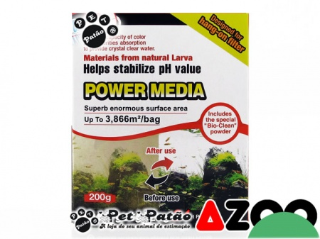 AZOO POWER MEDIA (LAVA VULCANICA PARA FILTROS HANG-ON) 200G - UN