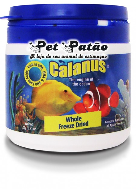 BCUK CALANUS WHOLE FREEZE DRIED 20G - VALIDADE 18/01/2018