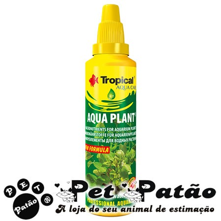 TROPICAL AQUA PLANT 50ML FERTILIZANTE LIQUIDO P/  PLANTAS AQUATICAS  - VAL 10-2019