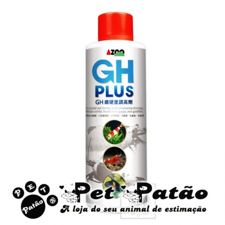 AZOO GH PLUS 120ML - AUMENTE A DUREZA TOTAL DO AQUARIO