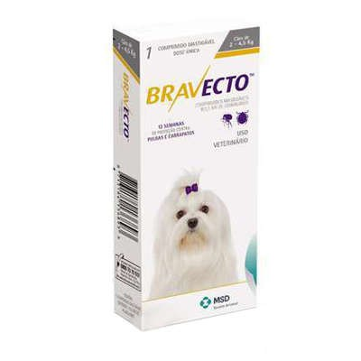 BRAVECTO ANTIPULGAS E CARRAPATICIDA ORAL 2 A 4,5KG - MSD