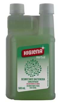 DESINFETANTE E BACTERICIDA CONCENTRADO HIGIENA HERBAL 500ML