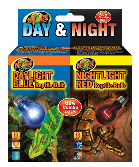 ZOOMED COMBO LAMPADAS NIGHTLIGHT RED 60W + DAYLIGHT BLUE 60W ( LAMPADAS AQUECIMENTO NOTURNA E DIURNA ) 127V