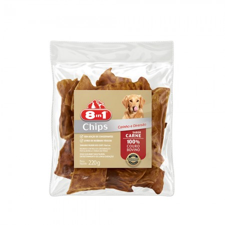 8IN1 - OSSO CHIPS CARNE 220G