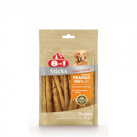 8IN1 - STICKS FRANGO 70G