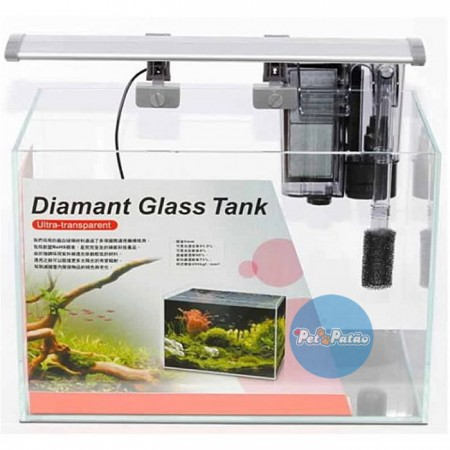 ISTA AQUARIO ULTRA TRANSP DIAMANT GLASS TANK SET 36CM x 22CM x 26CM I-857 - 127V