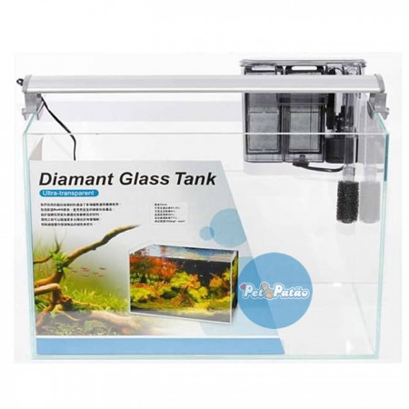 ISTA AQUARIO ULTRA TRANSP DIAMANT GLASS TANK SET 45CM x 27CM x 30CM I-858 - 127V
