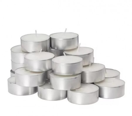 KIT 20 VELAS TIPO RECHAUD DECORATIVA REFIL BASE ALUMINIO