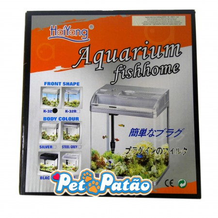 HAIYANG AQUARIO FISH HOME K-32 PRETO 16 LITROS LED 127V - UN