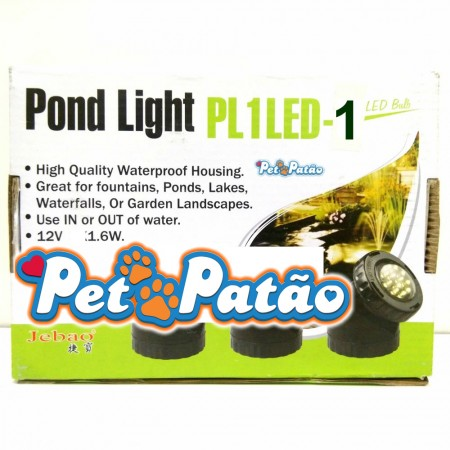 JEBAO POND LIGHT PL1LED-1 ( PROJETOR COM LAMPADA LED SUBMERSIVEL PARA AQUARIOS, TANQUES E LAGOS ) 127V
