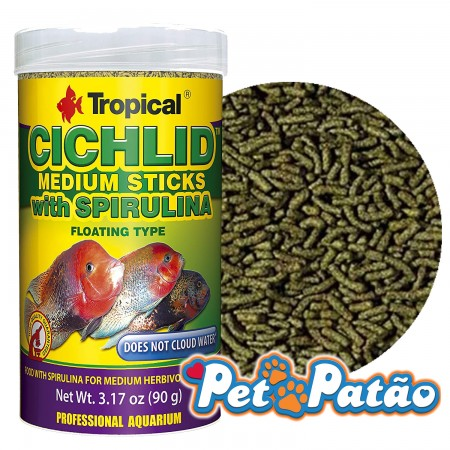 TROPICAL CICHLID SPIRULINA MEDIUM STICKS 90G - UN