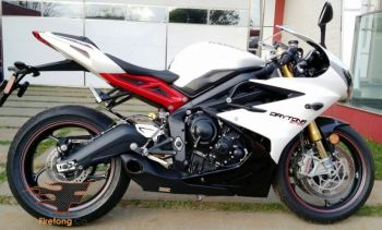 Ponteira Firetong Willy Made para Triumph Daytona 675R 2013 a 2016