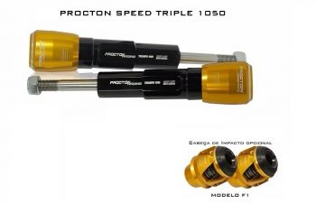 Slider Procton para Triumph Speed Triple 1050 2015 e 2017