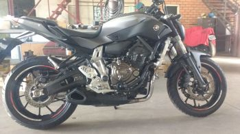 Escapamento FireTong WillyMade  Yamaha MT-07 2x1 Full Triangular