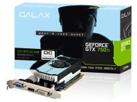 Placa de Vídeo VGA Galax GeForce GTX750Ti OC Slim 2GB DDR5 128 bits PCI-Express 3.0 x16 75IGH8HX9KXZ