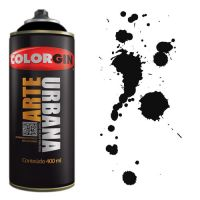 Spray Colorgin Arte Urbana 400ml - 945 Preto