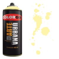 Spray Colorgin Arte Urbana 400ml - 913 Amarelo Baunilha