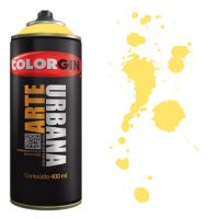 Spray Colorgin Arte Urbana 400ml - 912 Amarelo Canário