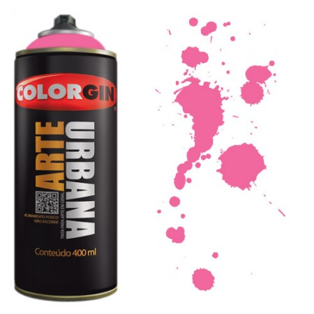 Spray Colorgin Arte Urbana 400ml - 917 Rosa Lírio  - foto principal 1