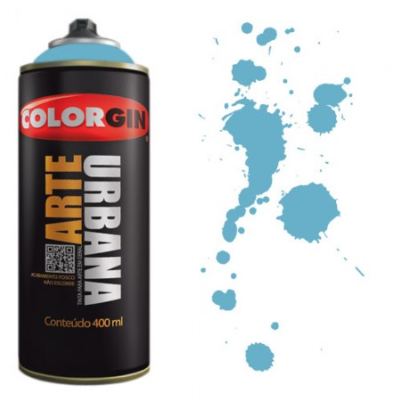 Spray Colorgin Arte Urbana 400ml - 923 Azul Céu  - foto principal 1