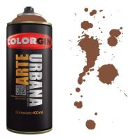 Spray Colorgin Arte Urbana 400ml - 930 Marrom Tabaco