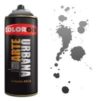 Spray Colorgin Arte Urbana 400ml - 946 Fumê ''Preto Transparente''