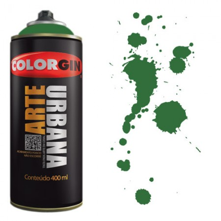Spray Colorgin Arte Urbana 400ml - 906 Verde Bandeira  - foto principal 1