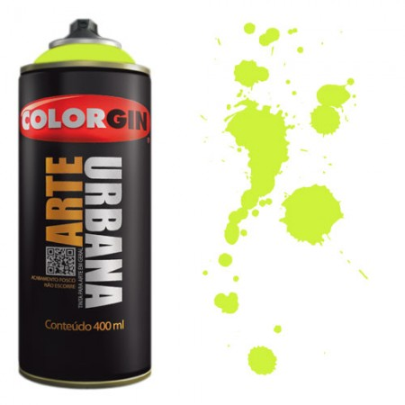 Spray Colorgin Arte Urbana 400ml - 905 Verde Neon  - foto principal 1