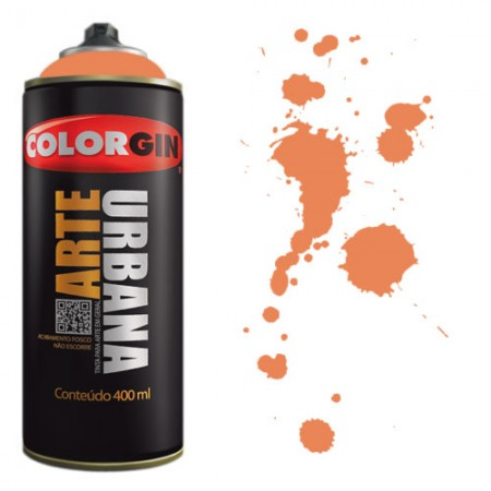 Spray Colorgin Arte Urbana 400ml - 967 Tangerina  - foto principal 1