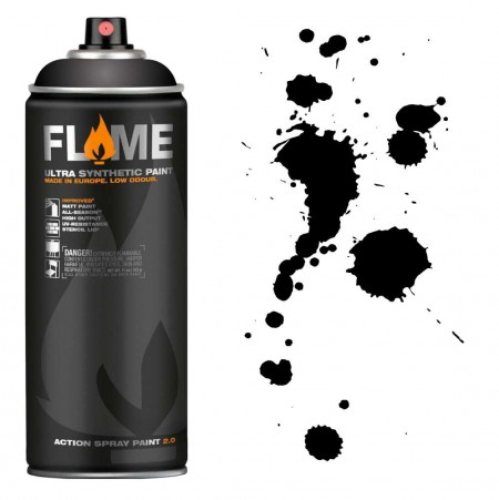SPRAY FLAME ORANGE BLACK -FO904  - foto principal 1
