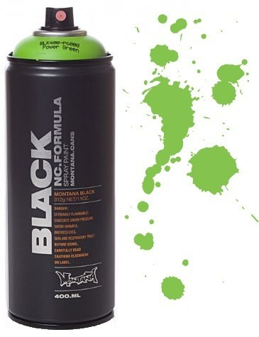 Spray Montana Black 400ml - BLK P6000 Power Green  - foto principal 1